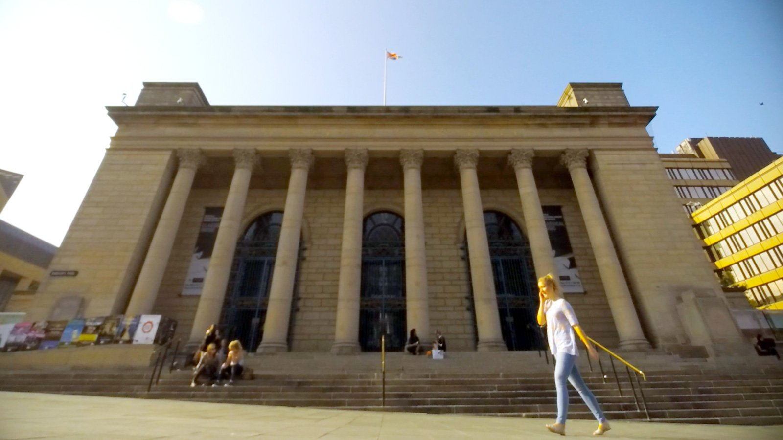 Sheffield City Hall in Barkers Pool
