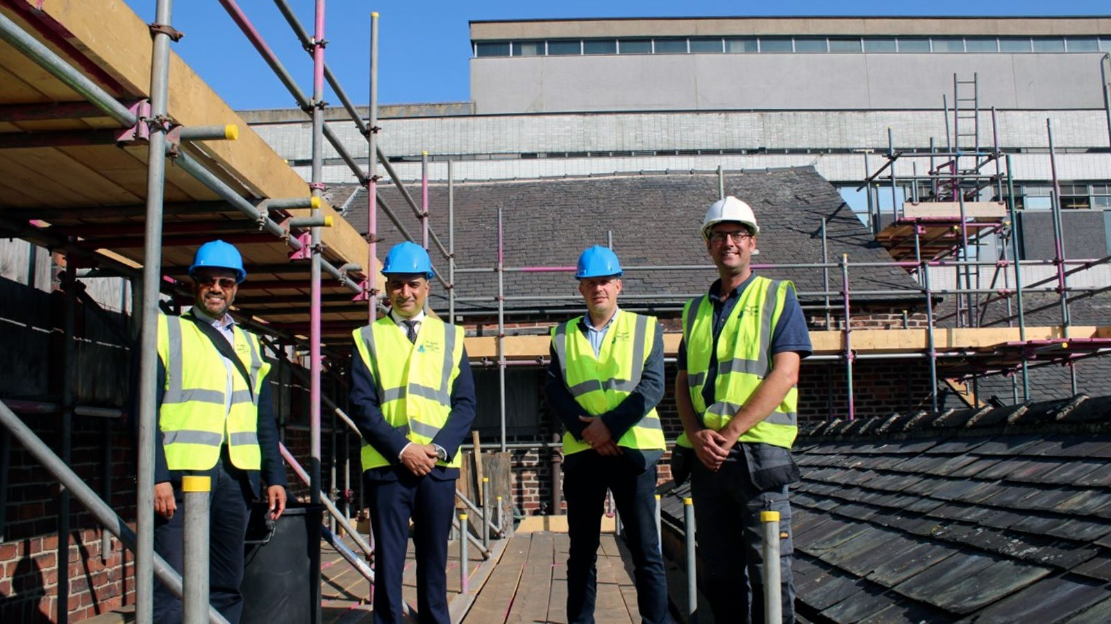 Building work begins to secure structure of Leah's Yard