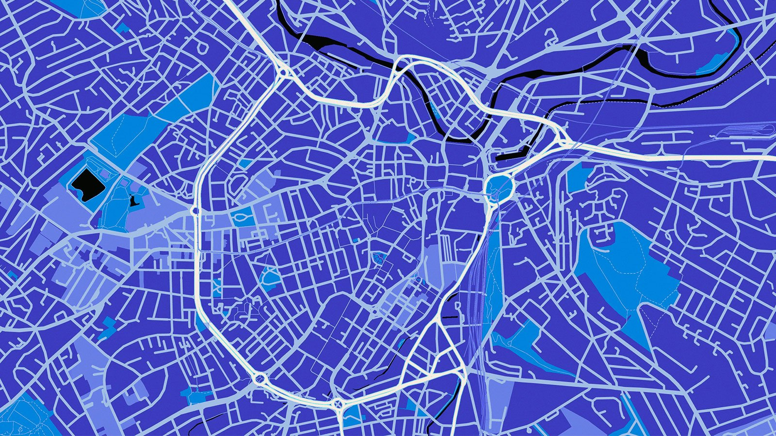 Map of Sheffield City Centre