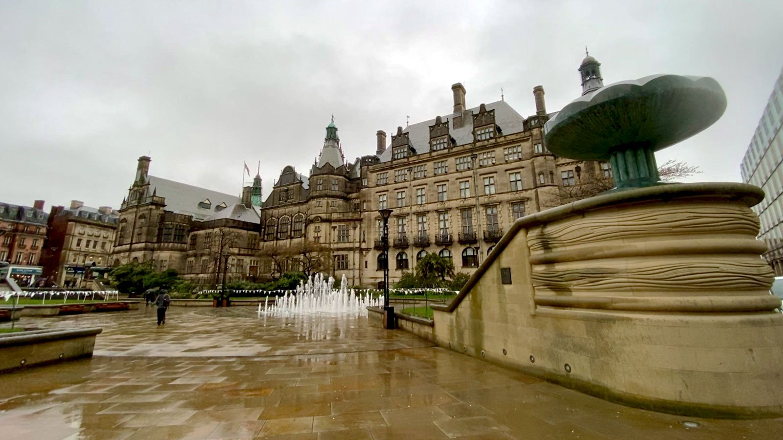 Sheffield Peace Gardens and Town Hall