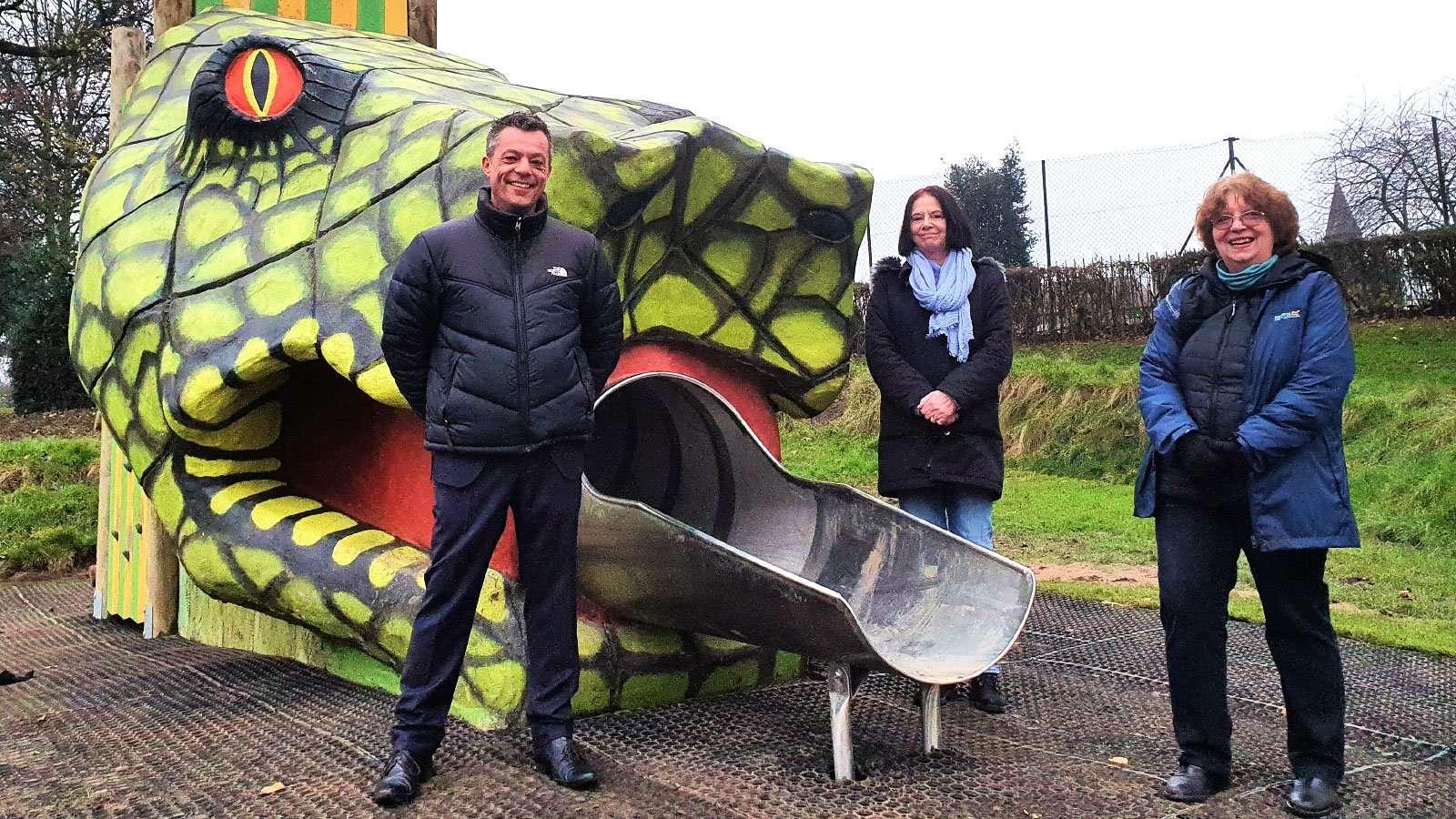 Hillsborough Park's new Snake Slide
