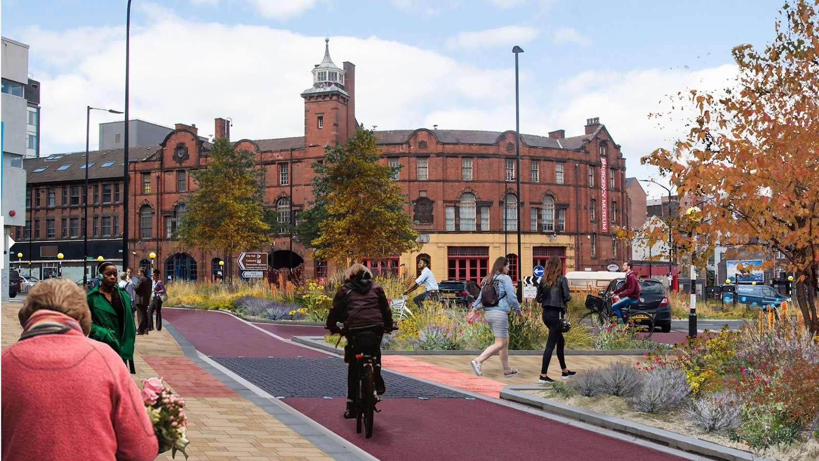 West Bar Roundabout Proposals as part of Kelham Island - City Centre Connecting Sheffield proposals